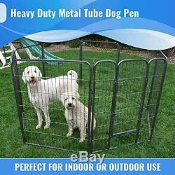 Iconic Pet Heavy Duty Metal Tube Pen Pet Dog Exercise and Training 48 inch
