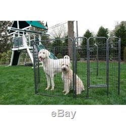 Iconic Pet Heavy Duty Metal Tube Pen Pet Dog Exercise and Training Playpen, 32