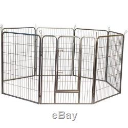 Iconic Pet Heavy Duty Metal Tube Pen Pet Dog Exercise and Training Playpen, 48