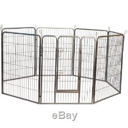 Iconic Pet Heavy Duty Metal Tube Pen Pet Dog Exercise and Training Playpen, W