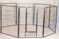 Iconic Pet Heavy Duty Metal Tube pen Pet Dog Exercise and Training Playpen