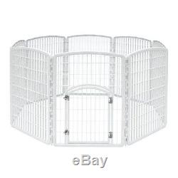 Indoor Outdoor Pet Play Pen Cat Dog Puppy Play Folding Cage Portable Exercise
