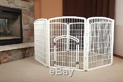 Indoor Outdoor Plastic Pet Dog Puppy Play Exercise Pen Cage Portable Playpen NEW