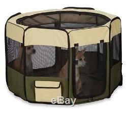 Insect Shield Exercise Pen Dogs Pet 8-Sided Fabric Mesh Pest Protection Foldable