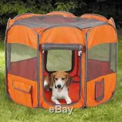 Insect Shield Fabric Exercise Pet Pen -Carrot-Dog House Exercise Pen for Animals