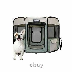JESPET 61 Pet Dog Playpens, Portable Soft Dog Exercise Pen Kennel with Carry