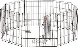 Jewett Cameron Lucky Dog 8 Panel Hd Dog Exercise Pen With Stakes