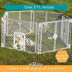 LARGE Dog Cat Pet Playpen 6 Panels Heavy Duty Indoor Outdoor Exercise Play Yard