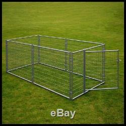 LUCKY Dog Modular Kennel Mesh Wire Exercise Pen Pet Puppy Crate Playpen 10x5x4ft