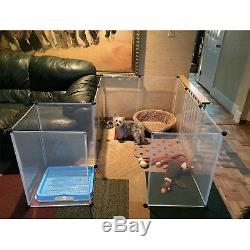 Large Dog Pet Playpen Indoor Outdoor Exercise Pen Play Yard Cage 12 Panels NEW