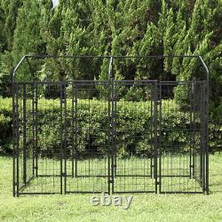 Large Dog Uptown Welded Wire Kennel Outdoor Pen Exercise Crate Pet Cage with Roof