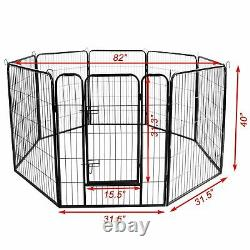 Large Heavy Duty Metal Dog Cage Playpen Pet Exercise Pen Fence Play Kennel