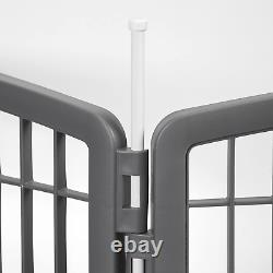 Large Indoor Outdoor Dog Pet Playpen Exercise Play Yard Cage Kennel Fence 34H