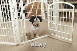 Large Indoor Outdoor Dog Playpen Pet Exercise 8 Panel Play Pan Dogs Yard Fence