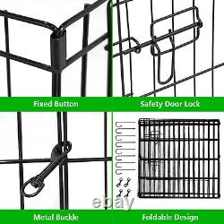 Large Metal Pet Dog Playpen Crate Fence Pet Play Pen Exercise Cage -16 Panel Ad