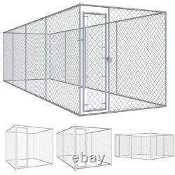 Large Outdoor Dog Kennel Pet Pen Crate Cage Fence Enclosure Run Exercise House