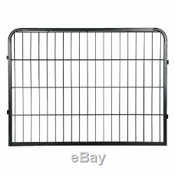 Large Pet Fence Metal Safe Playpen Dog Puppy Cage Crate Kennel Exercise Yard