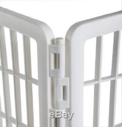 Large Pet Playpen With Door White Plastic Dog Exercise Play Pen Puppy Kennel