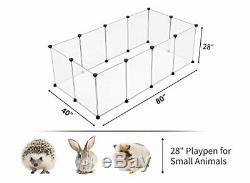 Large Transparent Dog Playpen Cage Puppy Pet Exercise Area Cat Rabbit Play Pen