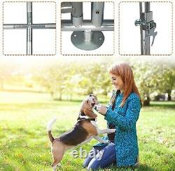 Livebest Foldable Metal Dog Playpen Pet Exercise Fence Kennel Heavy Duty Outdoor
