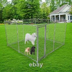 Lonabr Foldable Heavy Duty Dog Cage Kennel Puppy Playpen Exercise Fence Outdoor