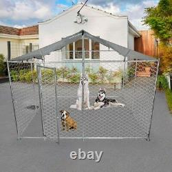 Lonabr Folding Outdoor Dog Kennel Heavy Duty Puppy Cage Playpen Fence Exercise