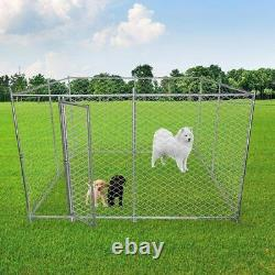 Luckyermore Metal Dog Kennel Puppy Playpen Heavy Duty Outdoor Cage Exercise