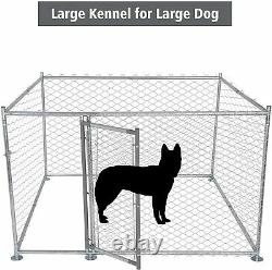 Luckyermore Metal Dog Playpen Heavy Duty Exercise Kennel Outdoor Fence Cage