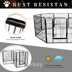 Meihua Dog Playpen Heavy Duty Foldable Metal Pet Pens, Dog Exercise Fence Outdoor