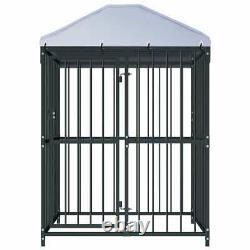 Metal Dog Kennel Heavy Duty Pet Cage House Outdoor Fence Exercise Playpen 120 cm