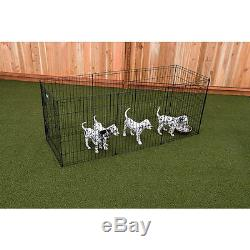 Metal Exercise Pen Black Contain Safely Outdoors Display Dog Rescue Gate 36 Inch