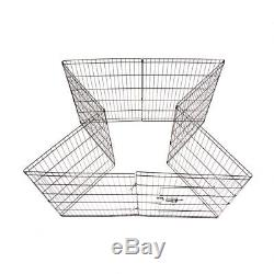 Metal Play Pen Yard 8 Panel 48 Tall Pet Dog Cat Folding Exercise Wire Fence W