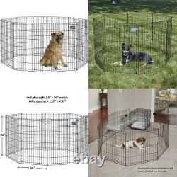 Midwest Foldable Metal Dog Exercise Pen / Pet Playpen, 24W X 36H, 1-Year Manuf