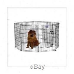 NEW Black Coated Metal Dog Exercise Pen with Door Folds for Easy Transport