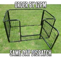 NEW Heavy Duty Pet Play Pen 125x80x70 Black Dog Exercise Fence Cage Portable