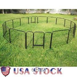 NEW! Outdoor Pet Dog Rabbit Play Pen Cage 16 Panels Exercise