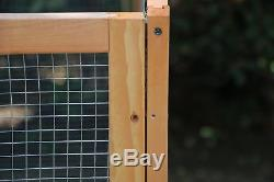 NEW! Pet Dog Gate Rabbit Bunny House Pet Exercise Pen Fence With Run US
