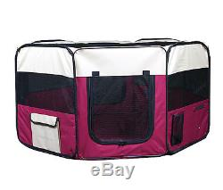 New 45 Large Dog Pet Cat Playpen Kennel Pen Crate Cage House Exercise Pen Red