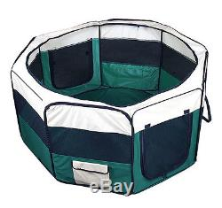New 48 X-Large Dog Pet Cat Green Playpen Kennel Exercise Pen Crate Fence