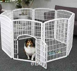New 8 Panel Indoor/Outdoor Playpen Pet Pen Puppy Play Cage Dog Exercise Crate