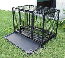 New Heavy Duty Dog Pet Cage Crate Kennel XL 48 Playpen Exercise Pen