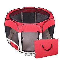 New Large Red Pet Dog Cat Tent Playpen Exercise Play Pen T08L