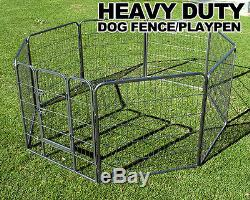 New MTN Heavy Duty 32 Dog Playpen Pet Cage Exercise Pen Fence House