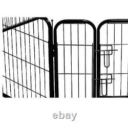 New Quality Black 32 8 Panel Heavy Duty Pet Playpen Dog Exercise Pen Cat Fence