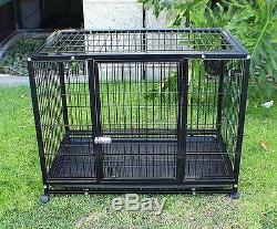 New XL 37 Heavy Duty Dog Pet Kennel Playpen Exercise Pen Cage Crate