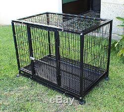 New XL-42inch Heavy Duty Dog Pet Cage Crate Kennel Playpen Exercise Pen-Black
