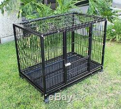 New XXL 42 Heavy Duty Dog Pet Metal Kennel Playpen Exercise Pen Cage Crate