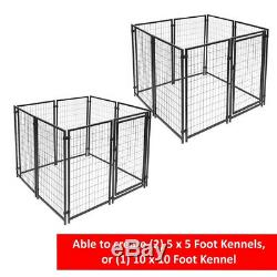 OUTDOOR DOG KENNEL PLAYPEN 10'X10'X4' Pet Cage Fence Exercise Pen Black 16-Panel