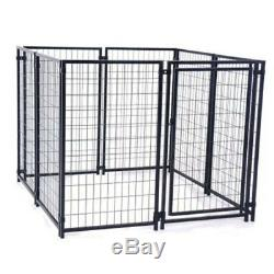 OUTDOOR DOG KENNEL PLAYPEN 5'X5'X4' Pet Cage Fence Exercise Pen Black
