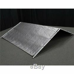 Outdoor Dog Kennel Cover 10x10 ft Large Steel Roof Pen Cage Fence Shade Exercise